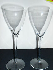 TALL SMOOTH HAND BLOWN 8 OZ WINE CHAMPAGNE GLASS VERY NICE! FREE SHIPPING!