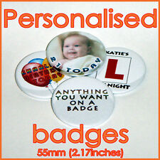 Personalised Birthday Badge Any image/Text Any Occasion