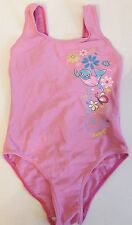 ZOGGS GIRLS PALE PINK FLOWER DOLPHIN SWIMSUIT SWIMMING COSTUME SIZE 4-5 YEARS