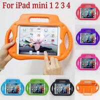 Kids Children Shockproof EVA Foam Handle Case Stand Cover For iPad mini 1 2 3 4