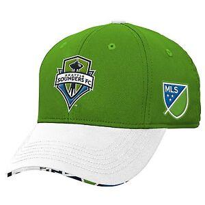 Seattle Sounders Adidas MLS Authentic Team Flex Fit Hat, S/M