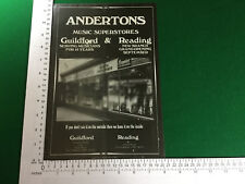 Andertons musical instrument store Guildford Reading full page advert from 1979