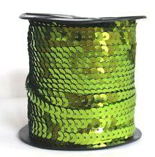 0,50€/m 5 m Pailettenband hellgrün 6 mm flach Pailetten Bauchtanz Karneval nähen