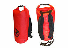 waterproof dry bag red. Padded straps. 45 L carry lots. Ideal camping hiking