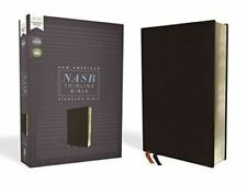 NASB Thinline Bible, Bonded Leather, Black, Red Letter Edition, 1995 Text, Comfo