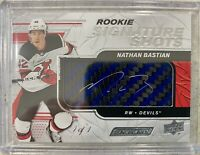 2019-20 ENGRAINED NATHAN BASTIAN ROOKIE SIGNATURE SHOTS AUTO 1/1 BLUE STICK