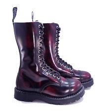Grinders Dr. Martens Doc Burgundy Ruboff Herald Steel Toe Boots UK 8 US 9