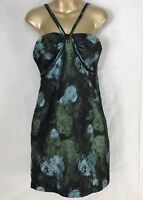 M.S.S.P. Max Studio Specialty Products Black Floral Print Lined Dress Size Large