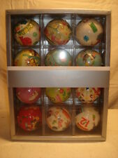 CRATE AND BARREL 12 DAYS OF CHRISTMAS PAPER MACHE ORNAMENTS