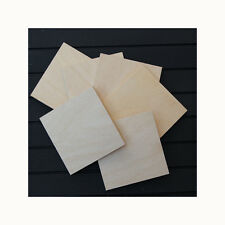 6 BIRCH PLYWOOD SQUARE COASTERS FOR PYROGRAPHY, WOODBURNING & OTHER CRAFTS