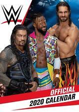 World Wrestling WWE Men 2020 Official A3 Wall Calendar