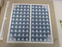 1998 UNCUT SHEET OF 100 43 PENCE GREAT BRITAIN STAMPS BELL ROCK LIGHTHOUSE MINT