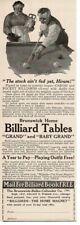 1915 Brunswick Billiard Pool Tables art by C. Everett Johnson antique print ad