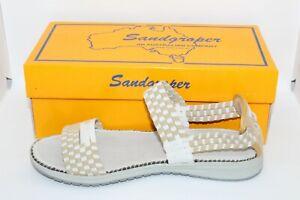 SANDGROPER REEF WHITE/BEIGE WOMENS SANDALS SIZE 39 BRAND NEW FREE POSTAGE