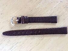 NEW KREISLER WATCH BAND BRACELET - Lizard Grain Leather 12mm 232102-12 Brown