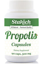 Propolis 90 Capsules 500mg Pure Organically Produces Natural Bee Fresh Best