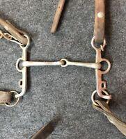 Vintage Bridle Bit Reins Horse Tack Western Decor Oklahoma Barn Find Man Cave PC