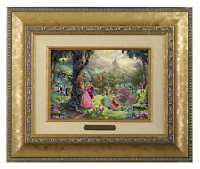 Thomas Kinkade Disney's Sleeping Beauty 5 x 7 Framed Brushwork (Gold Frame)