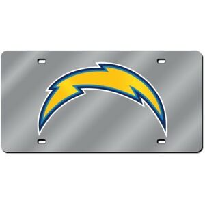 Los Angeles LA Chargers Mirror Look LASER License Plate