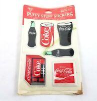 Vintage Coke Coca Cola Puffy Stuff Stickers Ambassador Hallmark 1983 NOS Sealed