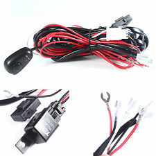 New Wiring Loom Harness Kit Car Fog Lights Bar with Fuse&Relay Switch