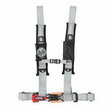 "Pro Armor Seat Belt Harness 4 Point 2"" Padded Silver Kawasaki Teryx Mule UTV All"
