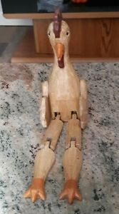 Vintage Handcrafted Wooden Sitting Rooster Figure