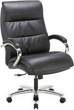 Big Tall Executive Office Chair Bonded Leather 400lbs Padding Headrest Armrest