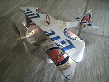Miller Lite Can Plane Airplane Made From Real Cans