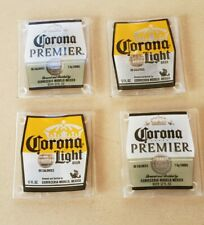 Corona Bottle Glass Coasters - Set of 4 Corona Light Corona Premier Coasters