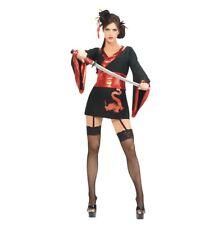 Halloween Karneval Fasching Kostüm China Girl Geisha Girl Asia Samurai rot S