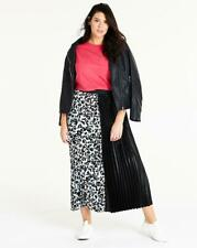Neues AngebotSimply Be Blk/weiß Leopardenmuster Sunray Plissiert Maxi Rock UK SIZE 16 REF whr38