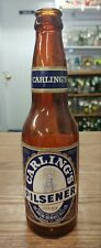 VINTAGE CARLING'S PILSENER [B.C.] PAPER LABEL BEER BOTTLE