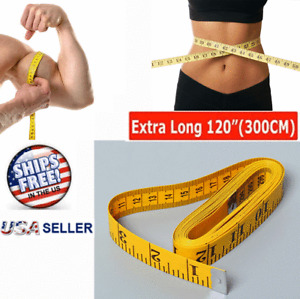 """120"""" Body Measuring Tailor Tape Ruler Sewing Cloth Measure Seamstress Soft Flat"""