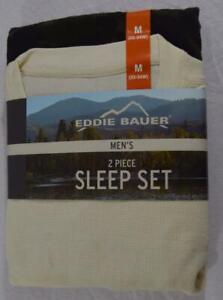 EDDIE BAUER MEN 2 PC SLEEPWEAR PAJAMA SET NWT Sz M #NTT194