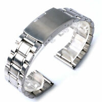 20mm Silver Stainless Steel Replacement Wrist Bracelet Watch Band Watch Strap
