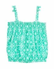 NWT Gymboree Sparkle Safari Batik Print Rayon Teal Aqua Tank top Sz: 5