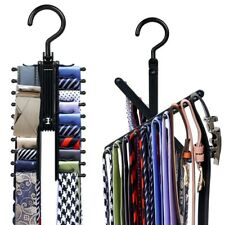 20 Tie Adjustable 360° Rotating Belt Scarf Compact Hanger Rack Holder Organizer
