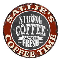 CWCT-0533 SALLIE'S COFFEE TIME Sign Birthday Housewarming Christmas Gift