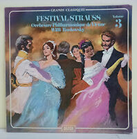 "33T FESTIVAL STRAUSS Vol. 3 Vinyl LP 12"" Orch VIENNE W. BOSKOVSKY Classique"