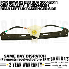 FOR BMW X3 E83 2004>2011 REAR LEFT NEAR PASSENGER SIDE ELECTRIC WINDOW REGULATOR