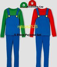 Super Mario Bros Costume Pajamas 4 5 6 7 8 10  Sleepwear boys 5 Piece Set New