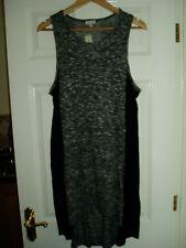 NEW Ladies River Island Size UK 14 Grey, Scoop Neck Dress