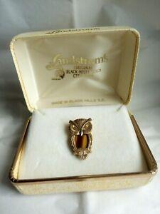 Landstrom's Black Hills Gold Tiger's Eye Owl Pendant