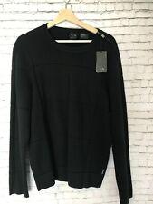 Armani Exchange Mens Knit Sweater Black Size L NEW (8)