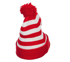 Where's Waldo DELUXE Knit POM Beanie Cap Hat Adult Costume NEW