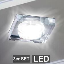 Luxus Glas Deckenlampe Hotelzimmer Einbau Wandleuchte Alu IP20 HxD 9,6x18 cm G9