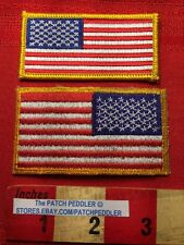 UNITED STATES FLAG PATCH LOT REVERSE & NORMAL ~ AMERICAN PATRIOT LOVES USA 62U5