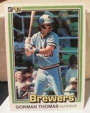 1981 Donruss Gorman Thomas #326 Baseball Card