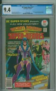 DC SUPER-STARS #17 CGC 9.4 OW/WH PAGES